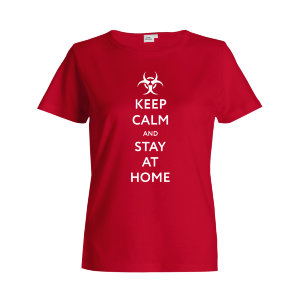 "Футболка женская ""Keep calm and stay at home"""