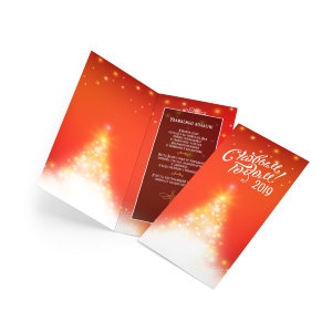 New Year invitation card 200х210 mm №4