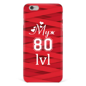"Чехол для iPhone 6 plus ""Муж 80 lvl"" №94"