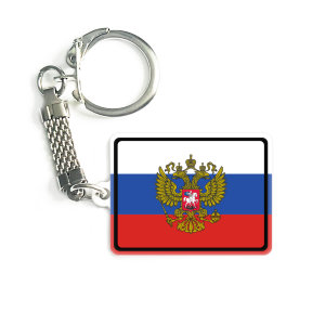 Trinket 3x4 sm with a Russian flag and coat for arms