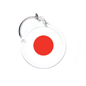 Trinket with a Japan flag D31 mm №13