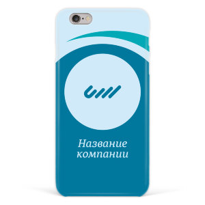 "Чехол для iPhone 6 plus ""Синий"" с лого №66"
