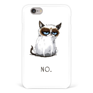 "Чехол для iPhone 6 ""Grumpy cat"" белый №57"