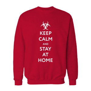 "Свитшот ""Keep calm and stay at home"""